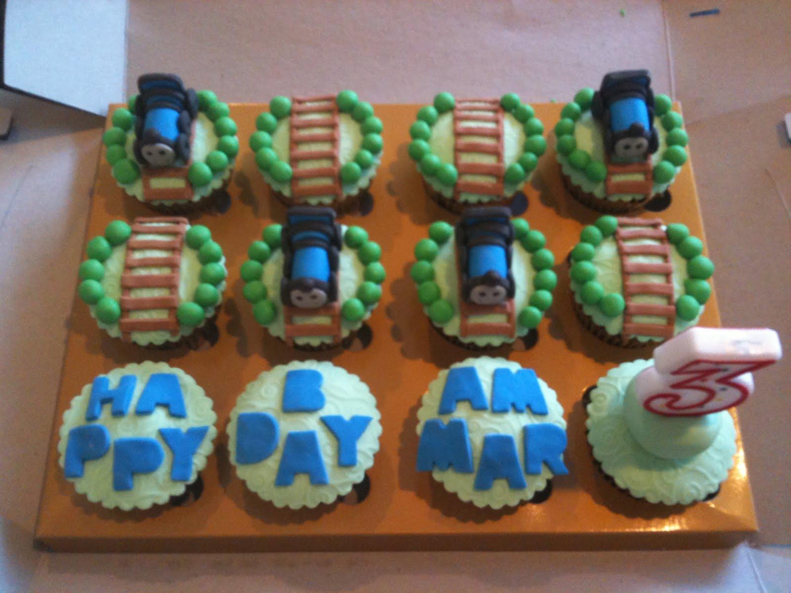 Scrumptious Homemade Thomas The Train Cupcakes