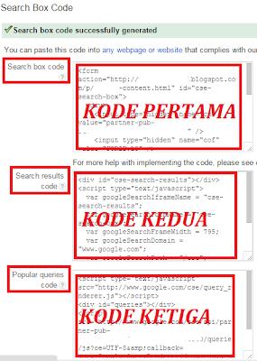 gambar 4 cara pasang iklan adsense search