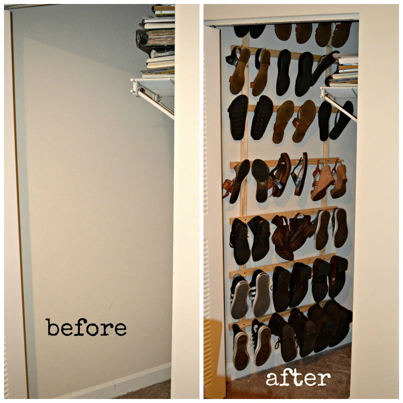 rack homemade closet home shoe modern design closets ideas