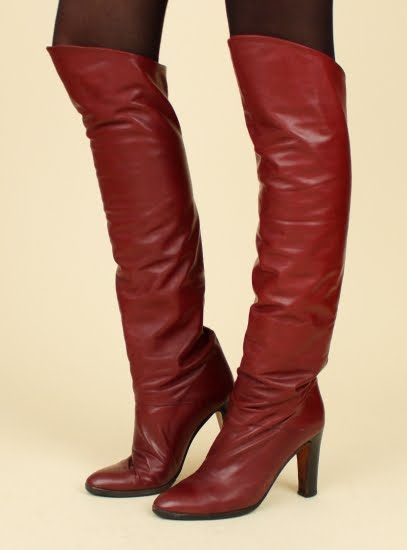 eBay Leather: Vintage 1970s over-the-knee Italian boots