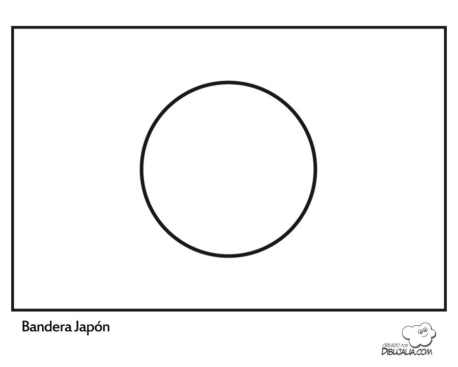 Mapa y Bandera de Japón para dibujar pintar colorear Imprimir ...