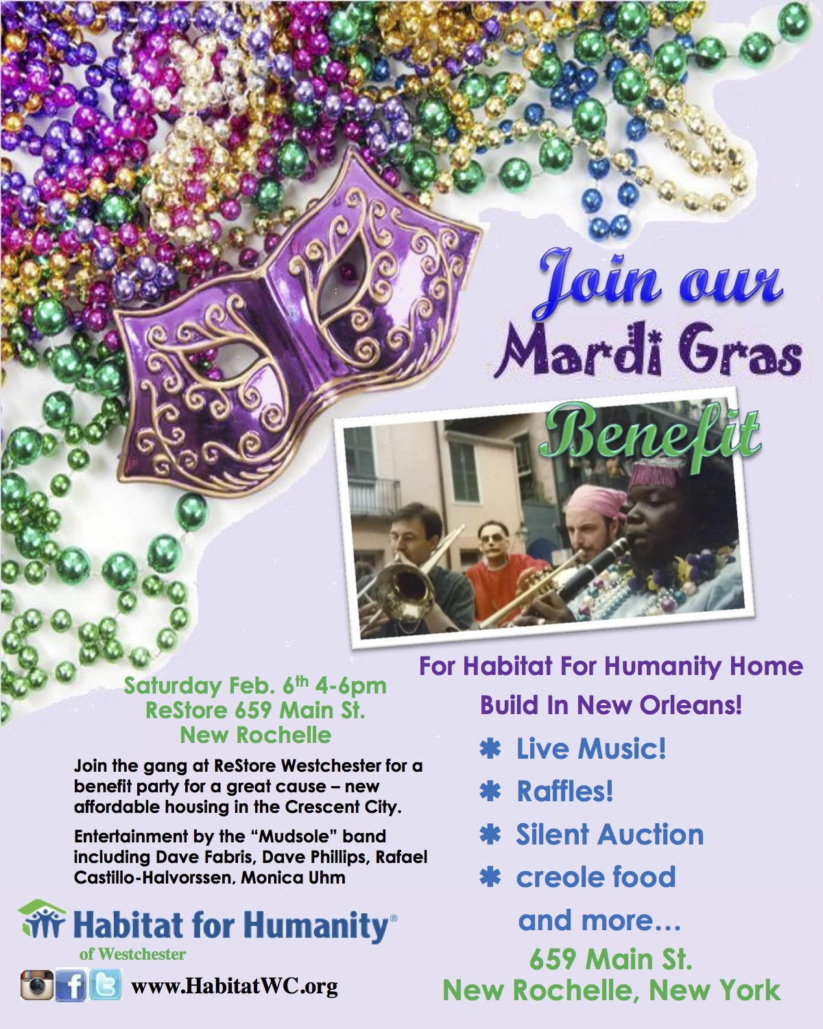 Mardi Gras Benefit - Feb 6, 2016