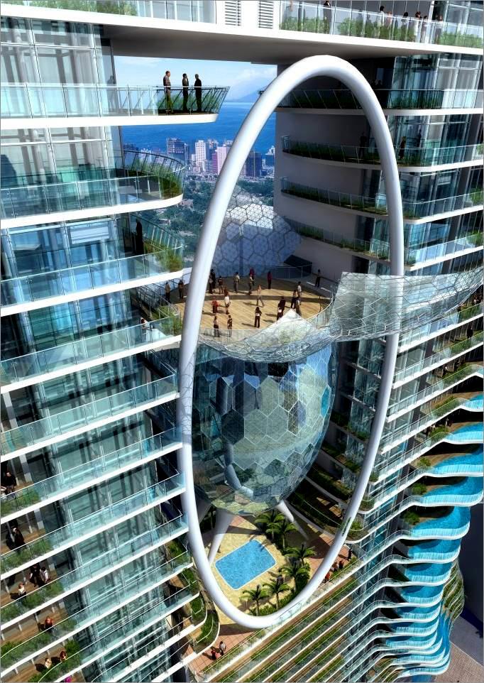 небоскреб с бассейном