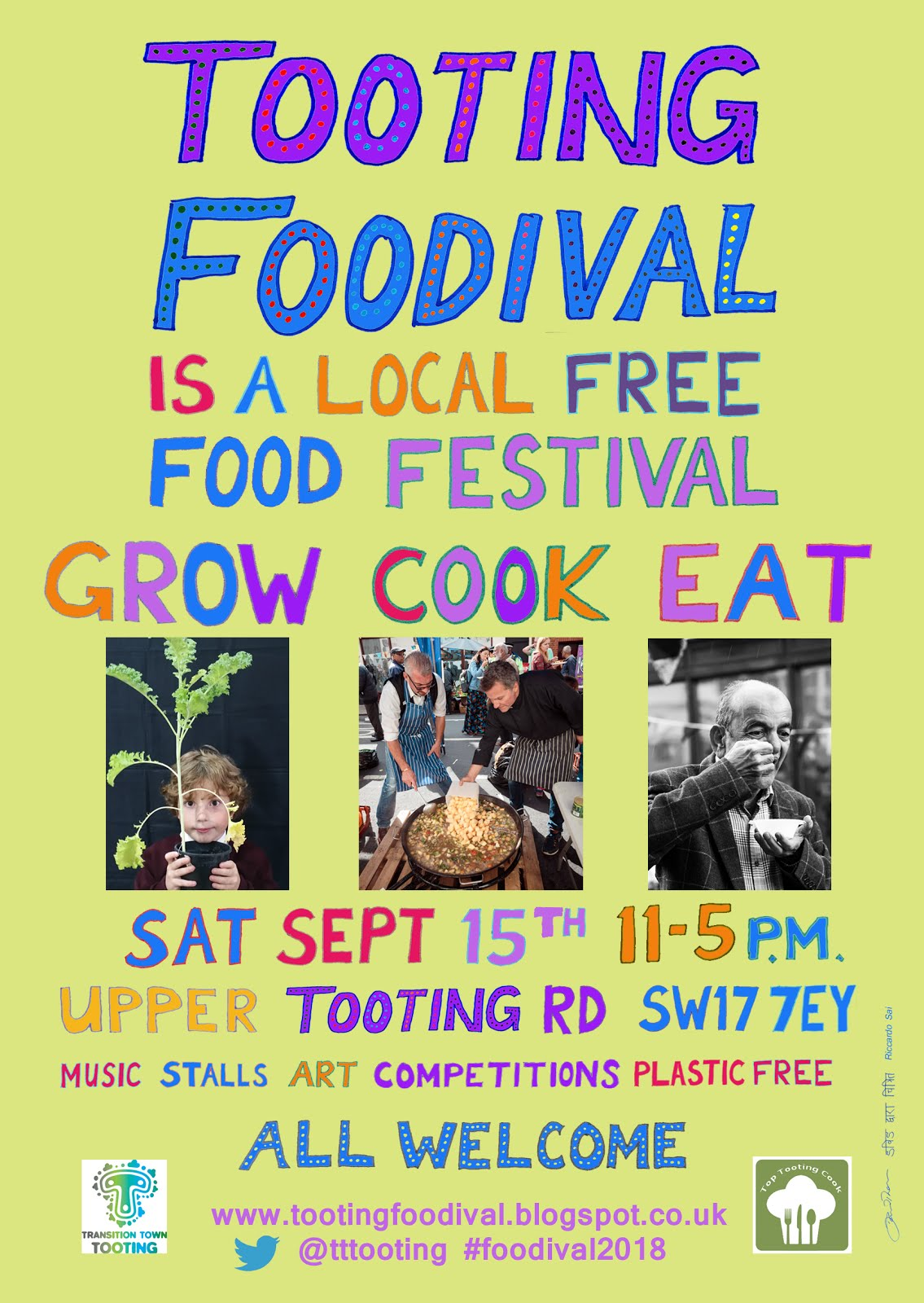 Saturday Sept 15th: the annual Tooting Foodival is here again!