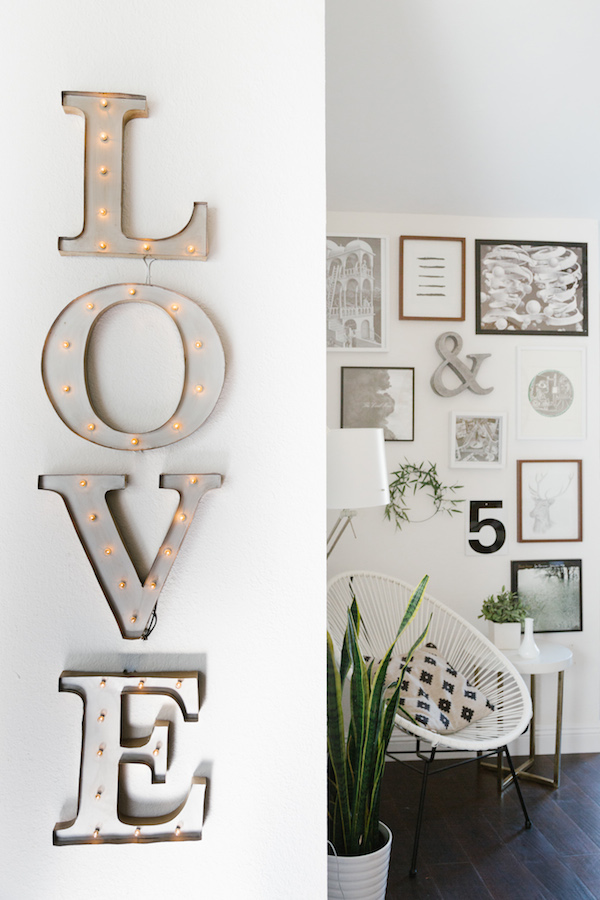 My scandinavian home an eclectic home in sunny california - Letras home decoracion ...