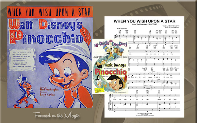 When You Wish Upon A Star, Pinocchio Music Sheet