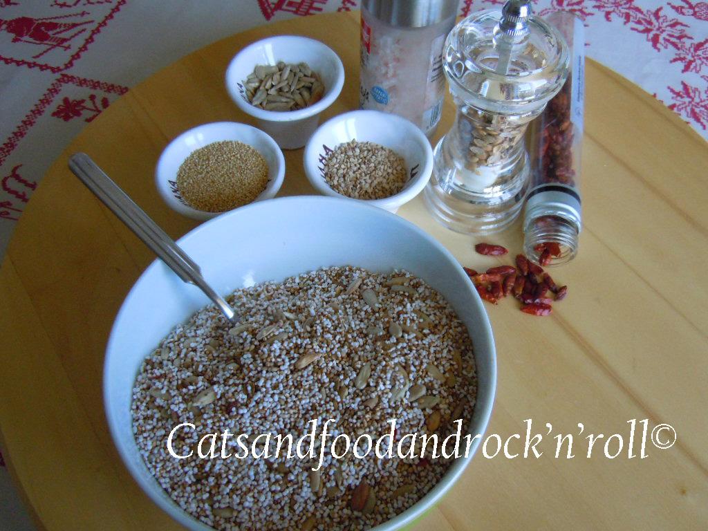 mix per insalata all'amaranto soffiato