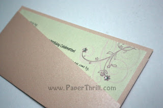 Cherry blossom wedding invitation card