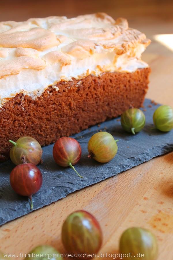 Stachelbeeren Baiser Kuchen Kastenform Foodblog Himbeerprinzesschen