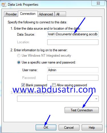 kenapa koneksi database acces eror