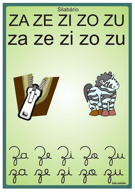 Silabário Verde para Imprimir Grátis