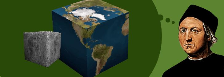 Colón meditando acerca de la Tierra