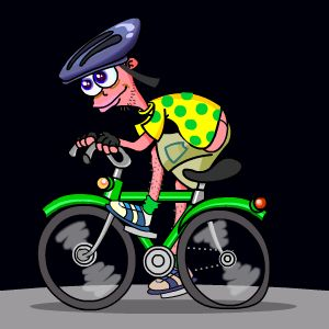HD Animals: bike animation