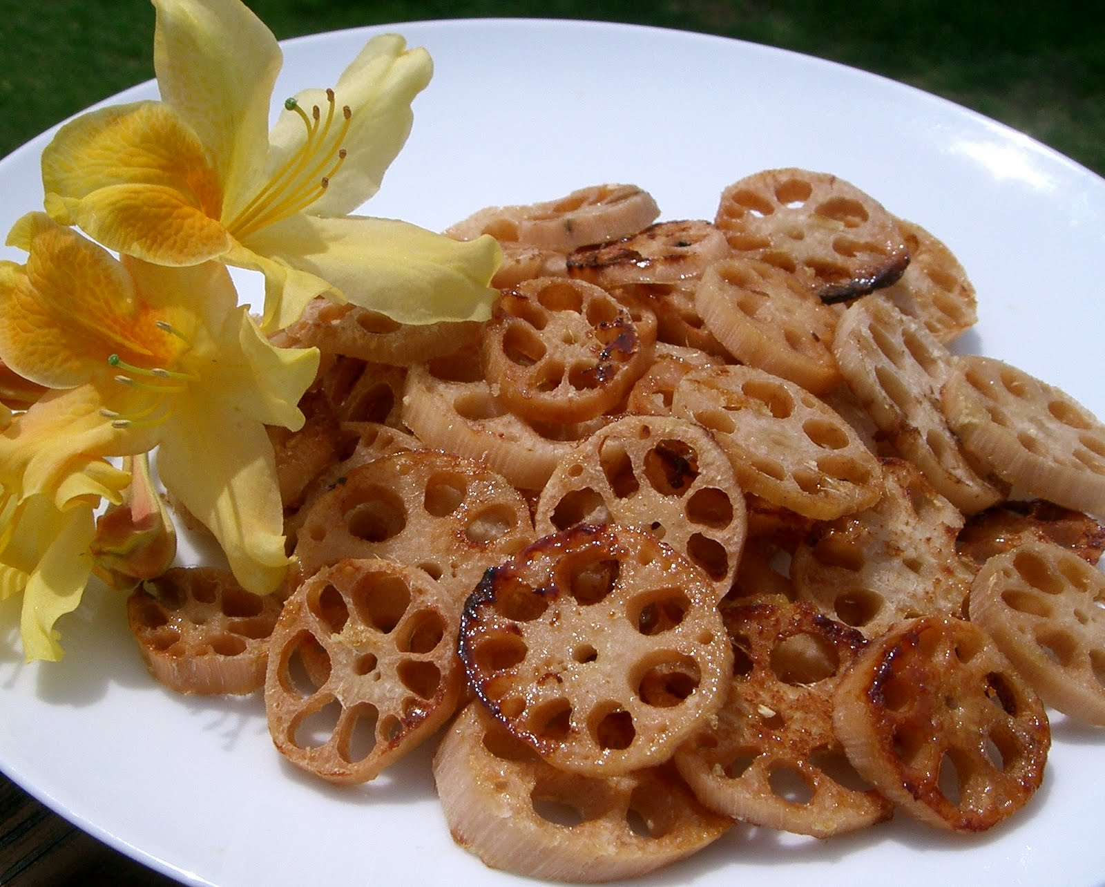 The Vegan Home Chef Lotus Part I Baked Lotus Root In A Honey