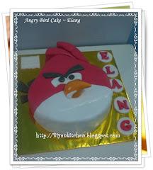 Cake hias fondant , Angry bird