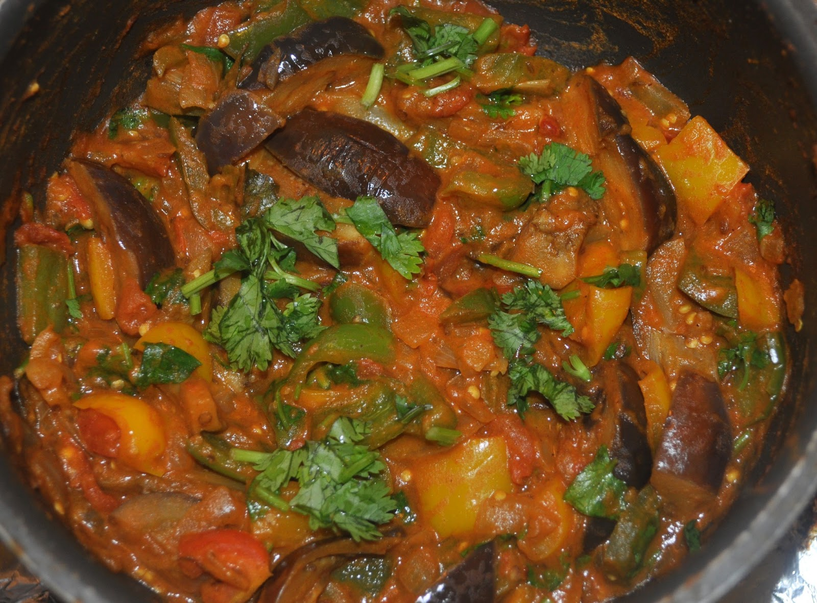 Eggplant/Brinjal With Poblano Peppers Recipes — Dishmaps