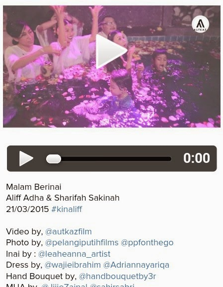 Syarifah Sakinah mandi bunga di malam berinai