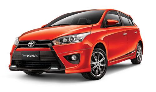 Mobil Yaris - Oranye Metalik