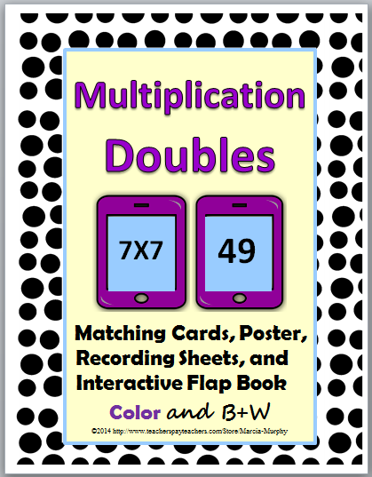 http://www.teacherspayteachers.com/Product/Multiplication-Doubles-Matching-plus-Poster-Interactive-Flap-Book-363273