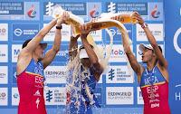 TRIATLÓN (Series Mundiales 2015) - El francés Luis gana en Hamburgo pero Noya sigue líder. Jorgensen crece aún más