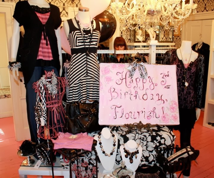 pink girly birthday party boutique