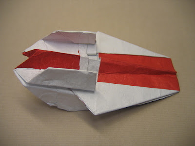 a-wing fighter origami