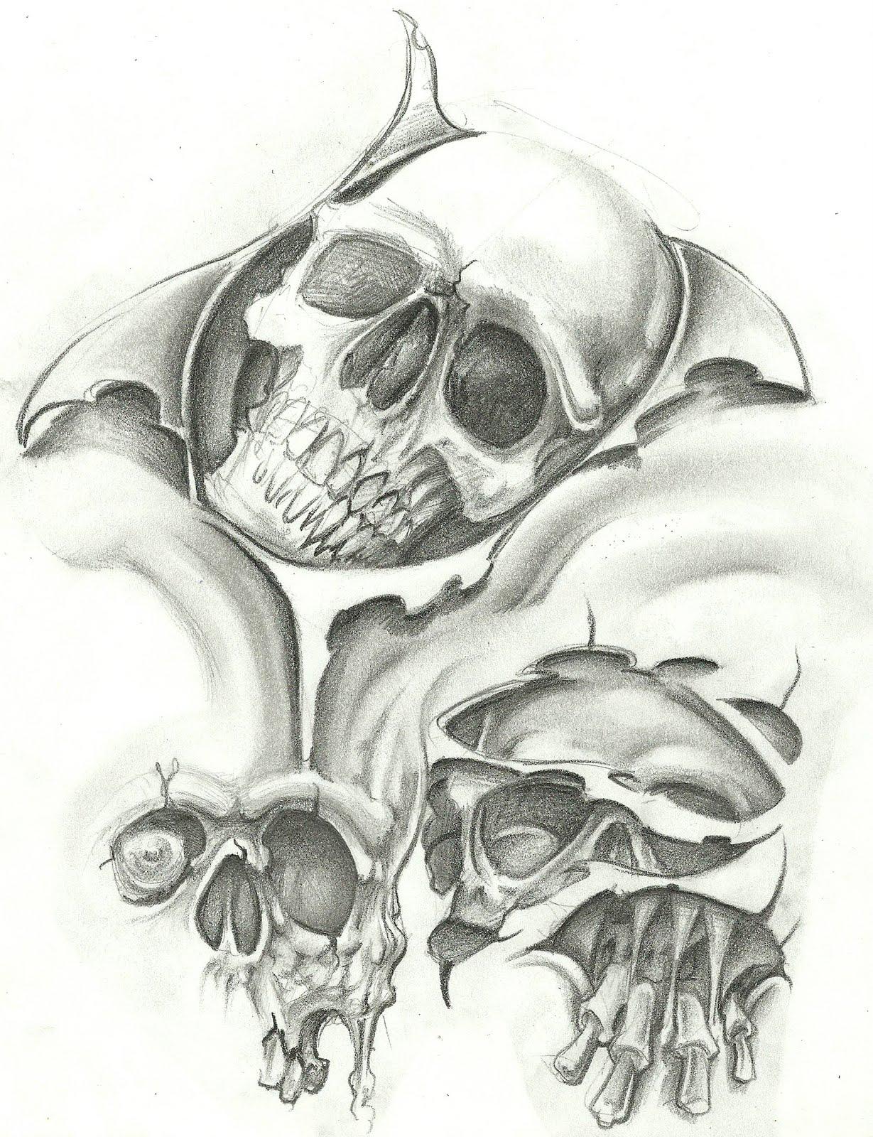 Skull tattoo flash tumblr