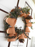 DIY Flower Pot Wreath . Featured on Tried & Twisted