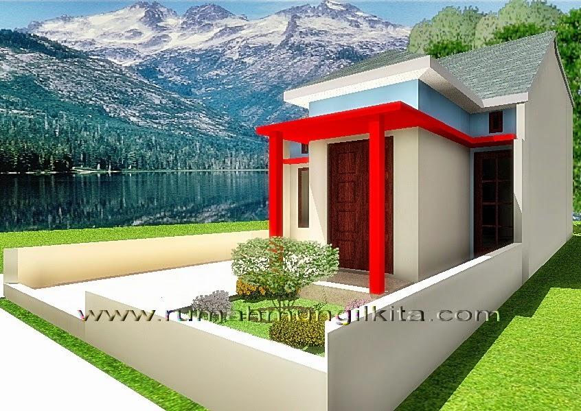 renovasi rumah dengan lebar 6 meter - tampak samping kanan