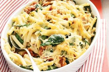 My recipe blog book creamy chicken pasta bake with for Creamy spinach pasta bake