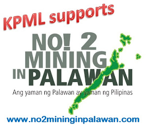 KPML Supports No To Mining in Palawan