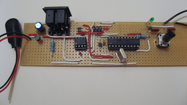 SX-150 MIDI interface circuit board