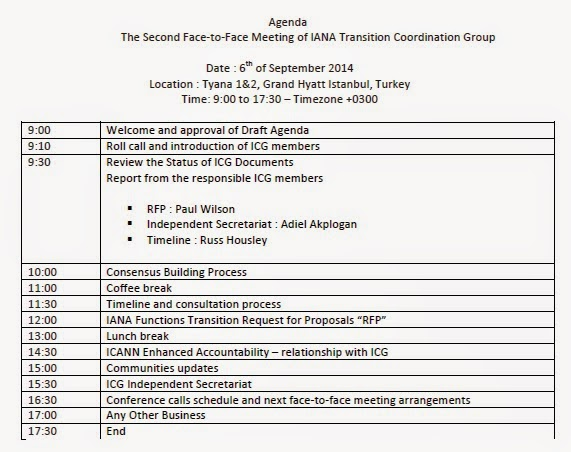 ICG Meeting Agenda 06 Sept 2014