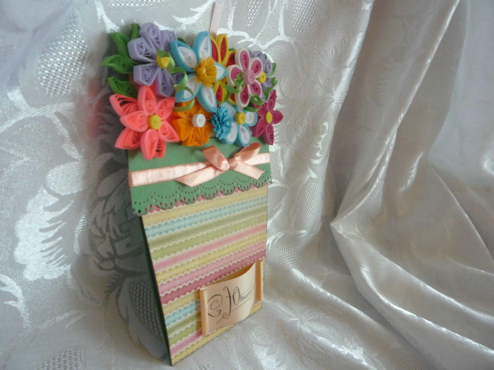 Горшочек с цветами своими руками 70