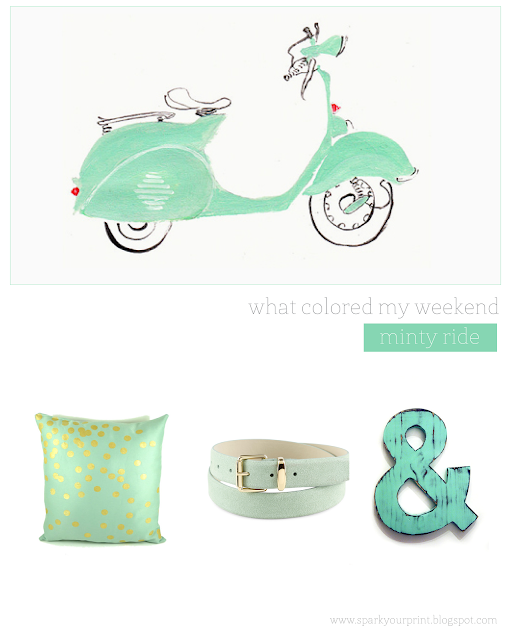 mint color inspiration board I mariana hodges for sparkyourprint.blogspot.com