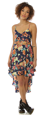 Reverse The Lattice Hi-Lo Cut Out Dress