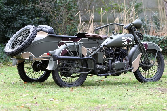 WW2 Military Motorcycles Widescreen Wallpaper