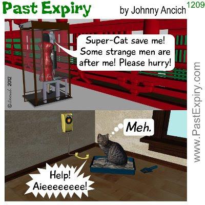 Cartoon about animals, cats, superhero