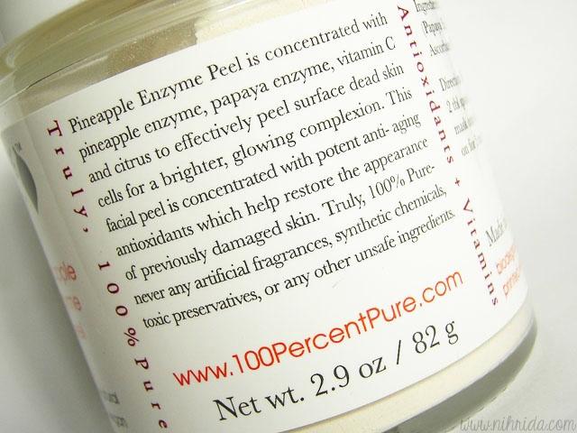 100% Pure Pineapple Enzyme Peel