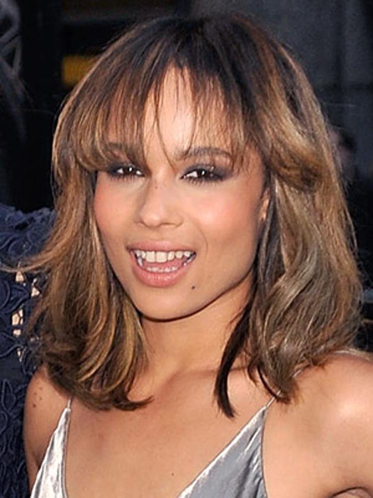 Popular Celebrity Bang Hairstyles Zoe Kravitz