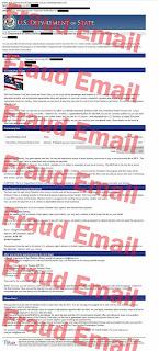ejemplo de cómo luce un correo electrónico fraudulento