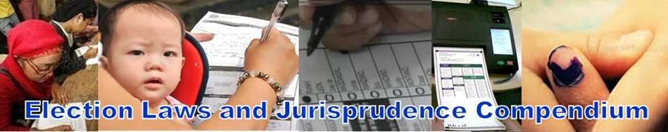 Election Laws and Jurisprudence Compendium
