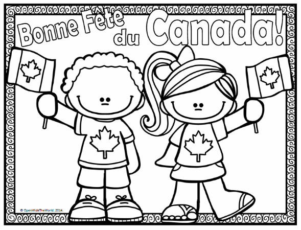 canada day coloring pages - photo#4