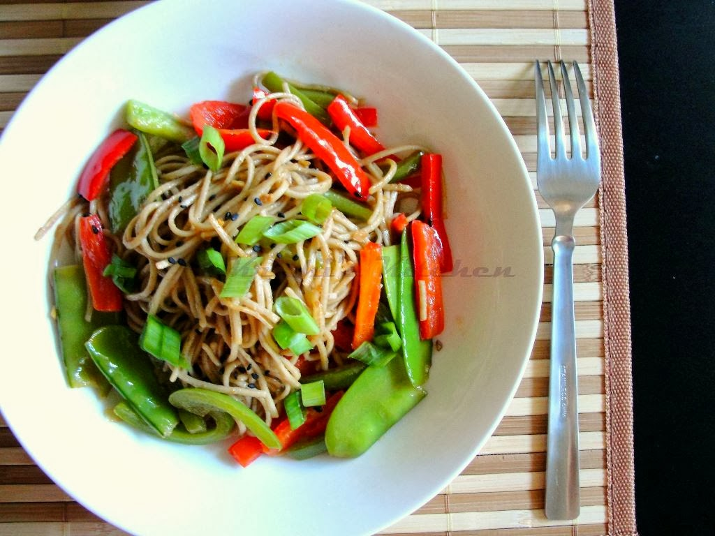 Step-by-step recipe: buckwheat noodles with vegetables