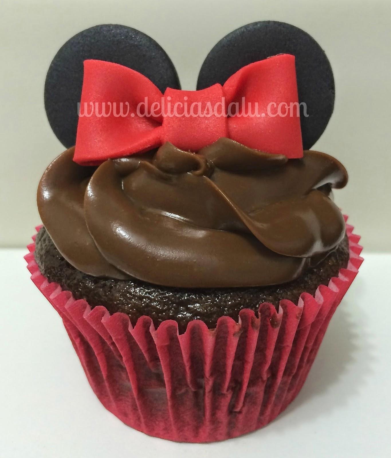 how to make minnie cupcakes
