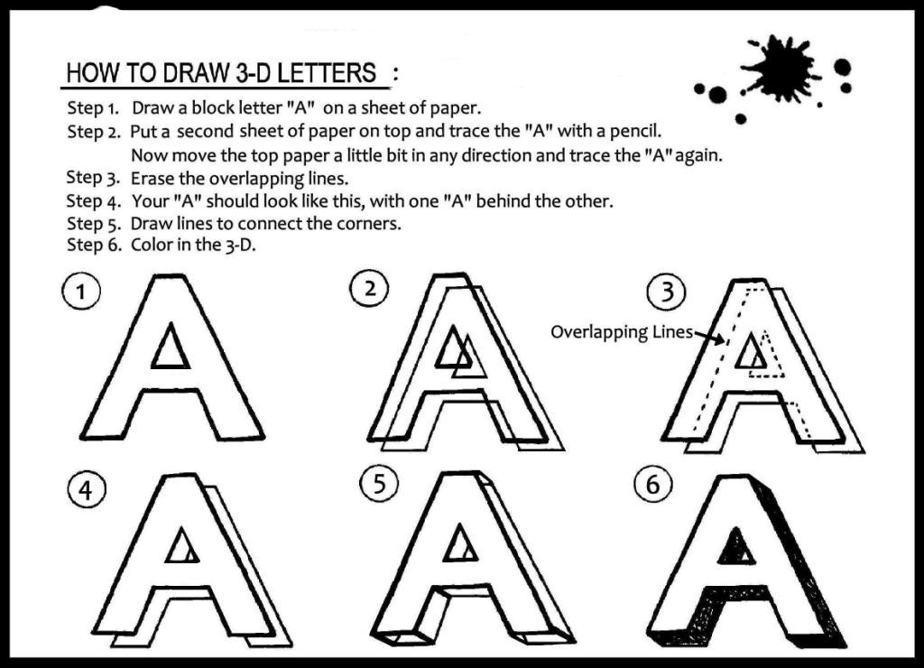 How to draw 3 dimensional letters joy studio design for 3 dimensional drawing software
