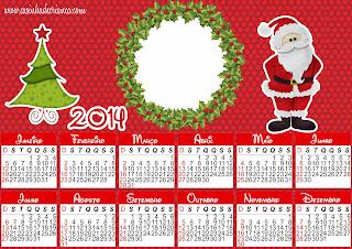 calendario Natal 2014 Para Imprimir Grátis