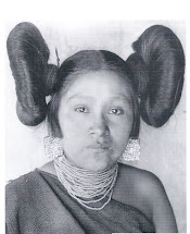 Native American Woman Traditional Hairstyle