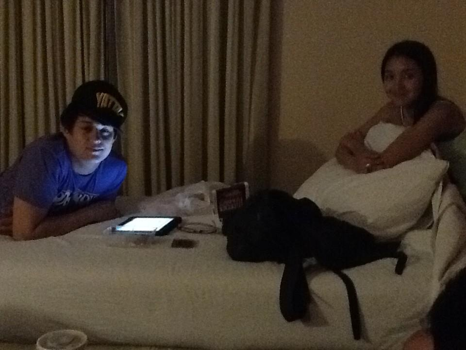 spending a precious moment with Kathryn Bernardo inside a hotel room