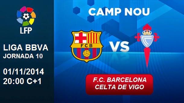 La previa del partido: FC Barcelona vs Celta de Vigo (1/11/2014)